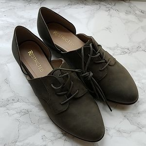 Restricted Olive Green Loafers